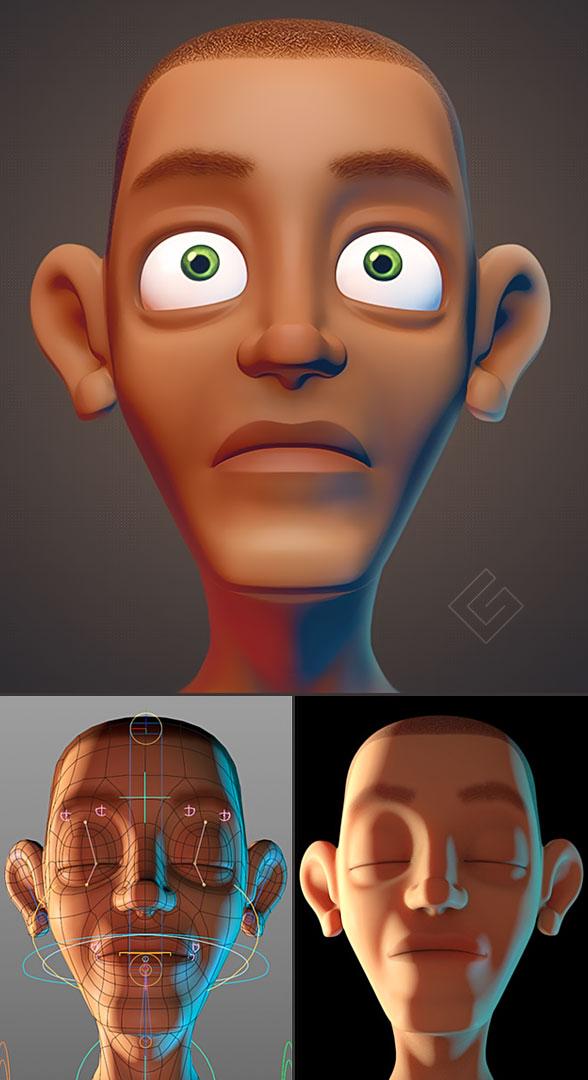 human face 3d